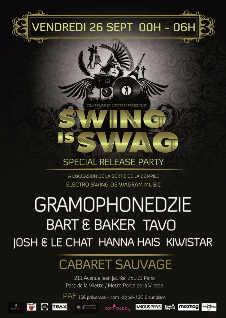 Gagnez 2 compilations Electro Swing VII, dans le cadre des soirées Swing Is Swag