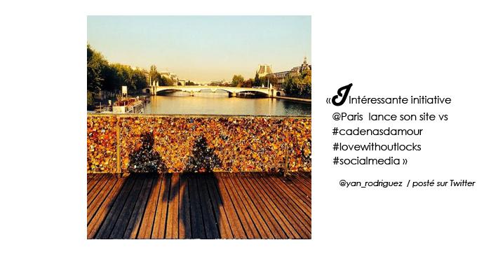 La Mairie de Paris met en place des cadenas d'amour virtuels