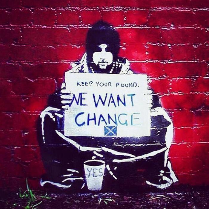 Banksy pour l'indépendance de l'Ecosse ?