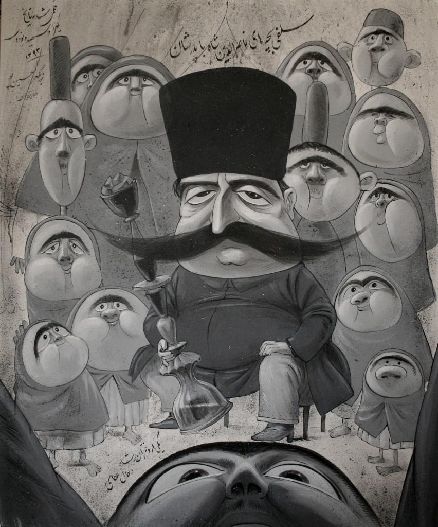 A cartoonist inside a royal harem à la galerie Nicolas Flamel à Paris