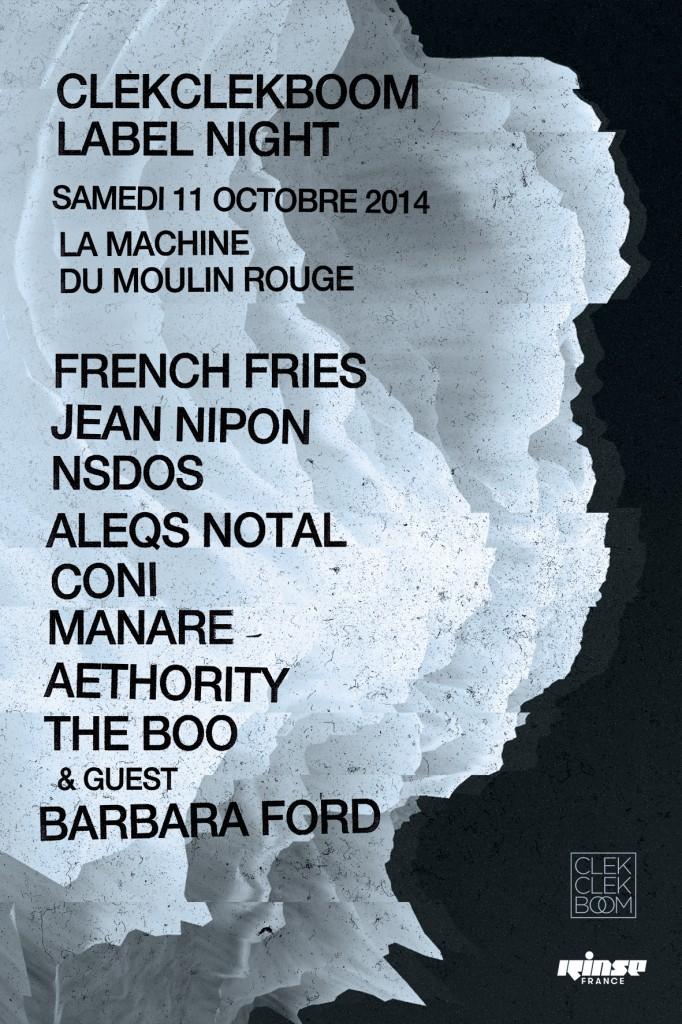 Gagnez vos places pour la Cleckcleckboom Label Night à La Machine du Moulin Rouge le 11 octobre