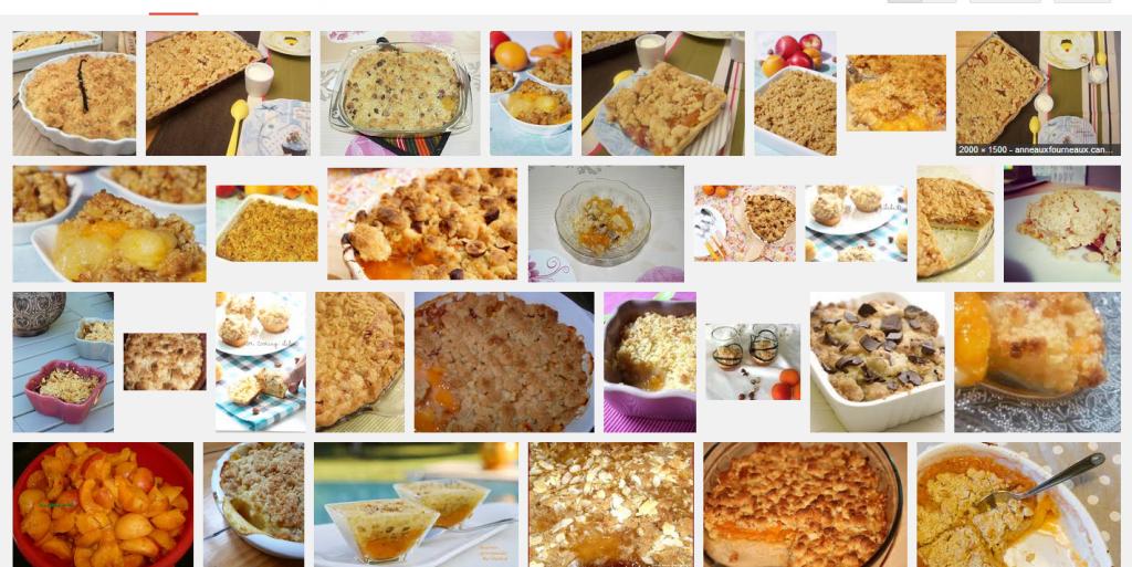 [La recette de Claude] Crumble pêche, abricot, noisette