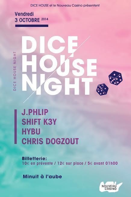 Gagnez 2×2 places pour la Dice House Night du Nouveau Casino le vendredi 3 octobre