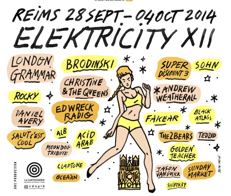 Gagnez 5 places pour le Festival Elektricity de Reims et la soirée du 2 octobre