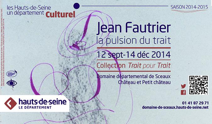 Jean Fautrier, la pulsion du trait au Musée Domaine de Sceaux