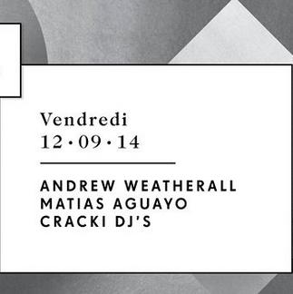 Gagnez 5×2 places pour Andrew Weatherall, Matias Aguayo et Cracki Records au Showcase le 12 septembre