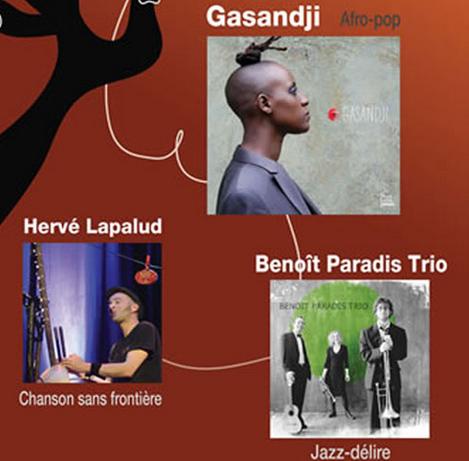 Gagnez le CD de Gasandji, Benoît Paradis Trio et Hervé Lapalud présents au RDV FRANCOFONIK #3