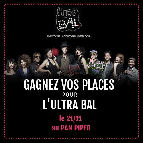 Gagnez 5×2 places pour l'Ultra Bal au Pan Piper le 21 novembre