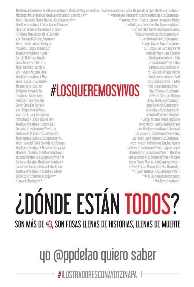 Un front artistique pour retrouver les 43 étudiants disparus au Mexique