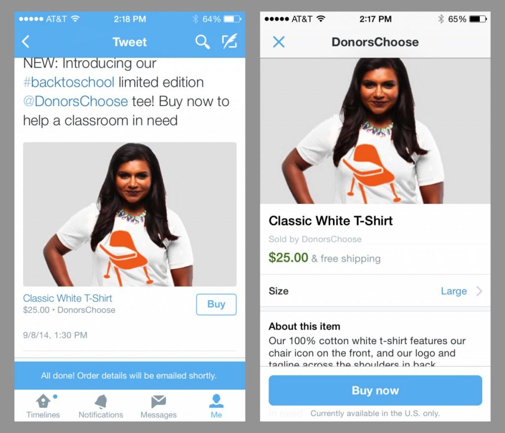 La vente en ligne s'étend à Twitter