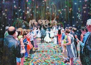 Untitled, 235 x 170 cm, acrylique et huile sur toile, 2014
