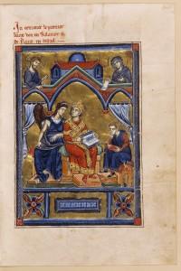 Bible de Saint-Jean d'Acre. 3e quart du XIIIe siècle. Parchemin, H. 0,285 ; L. 0,200 m. Paris, Bibliothèque de l'Arsenal. MS 5211. © BnF