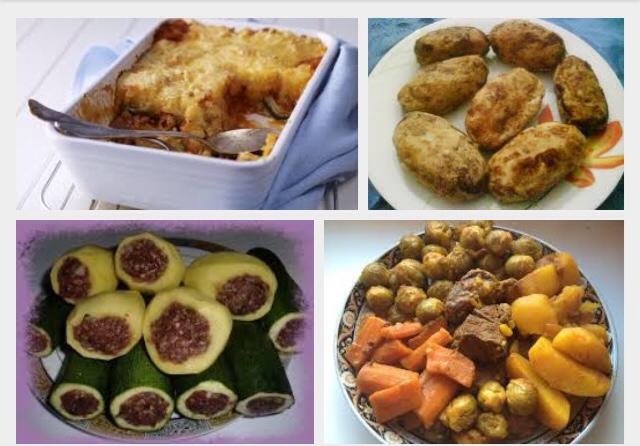 [La recette de Claude] Pommes de terre farcies au chou et à la viande