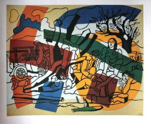 Fernand Léger, La Partie de campagne, 1954, Huile sur toile, 245 x 301 cm © Archives Fondation Maeght © Adagp Paris 2014
