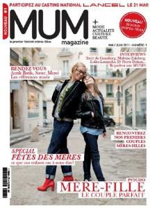 """Couverture du magazine """"MUM"""", premier numéro"""