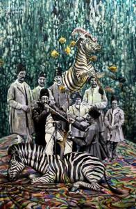 Nasseredin Shah, 150 x 100 cm, acrylique et huile sur toile, 2014