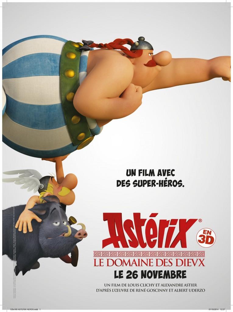 Box-office: Astérix et le domaine des dieux d'Alexandre Astier en tête du top 10 des entrées France semaine.
