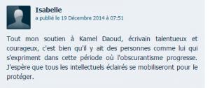 Commentaire d'un internaute dans un article du Parisien