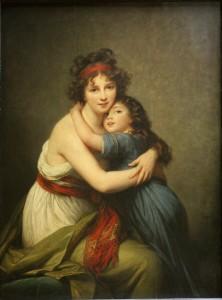 "Elisabeth Vigée-Lebrun, ""Mme Vigée-Lebrun et sa fille"", ou ""la Tendresse""."