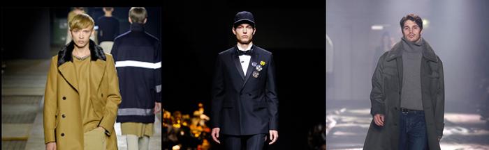 Défiles Dries Van Noten, Dior; AMI Automne-Hiver 2015-2016.