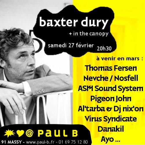 Gagnez 3×2 places pour le concert de Baxter Dury au Paul B de Massy le 27 février