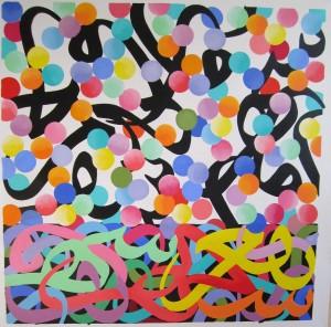 Salar Ahmadian, Untitled, 2014, 150 x 150 cm