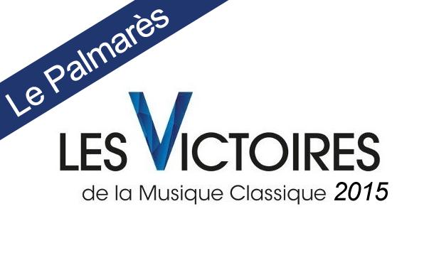 Palmares Victoire de la musique classique 2015