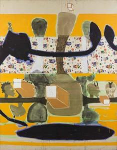 Prime time, 1996, technique mixte sur toile, 283 x 223 cm, Courtesy Galerie Boulakia