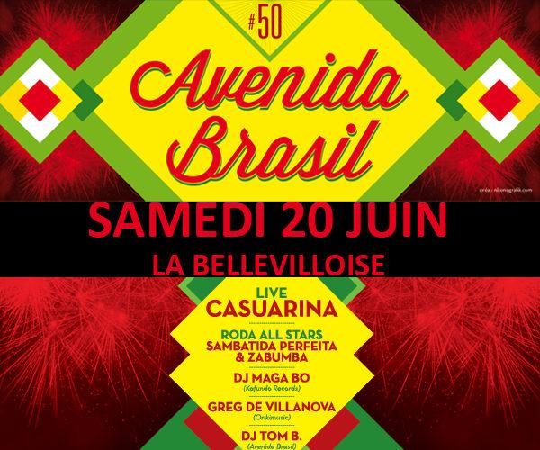 Gagnez 3×2 places pour l'Avenida Brasil #50