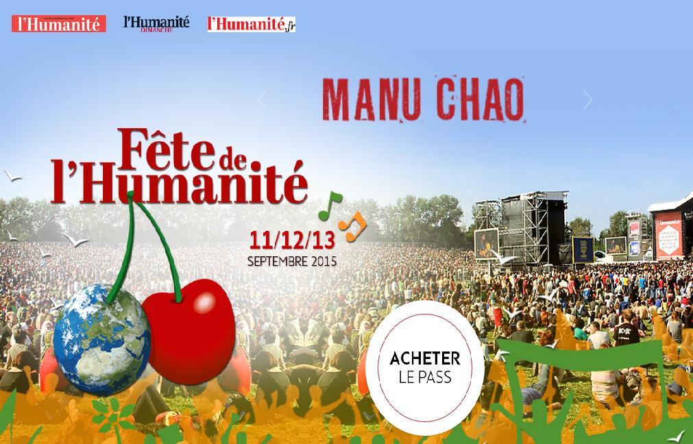 Manu Chao tête d'affiche de la 80ème Fête de l'Humanité