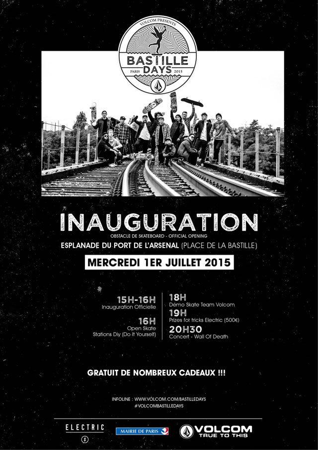 Un skatepark éphémère prendra la Bastille pour les Volcom Bastille Days