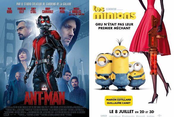 Box-office France semaine : 660.000 entrées pour Ant-Man de Marvel qui termine derrière les Minions