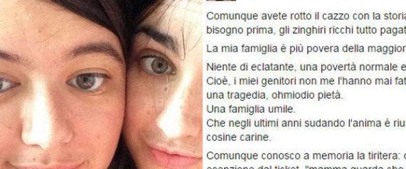 La vie d'une jeune italienne en galère fait le tour du Web