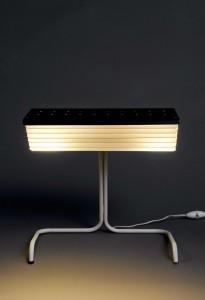Lampe 231- Jacques Biny Edition Luminalite- 1957 Metal laqué et bronze doré Courtesy galerie Pascal Cuisinier