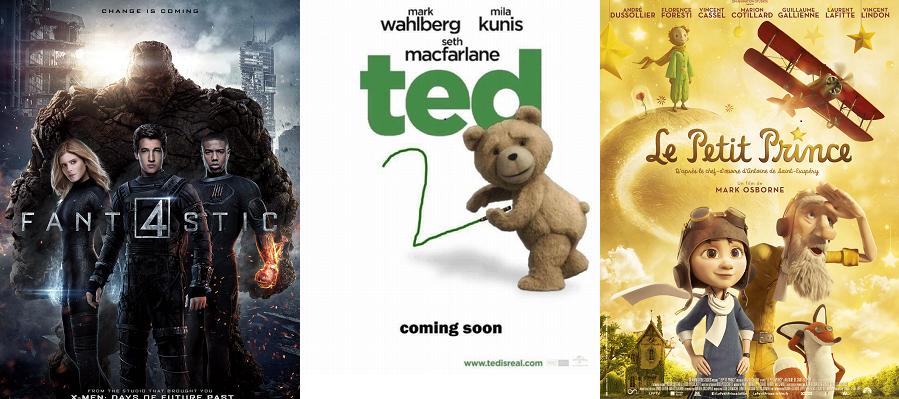 Box-Office France semaine : 660.000 entrées pour les 4 Fantastiques qui évite le flop et devance Ted 2