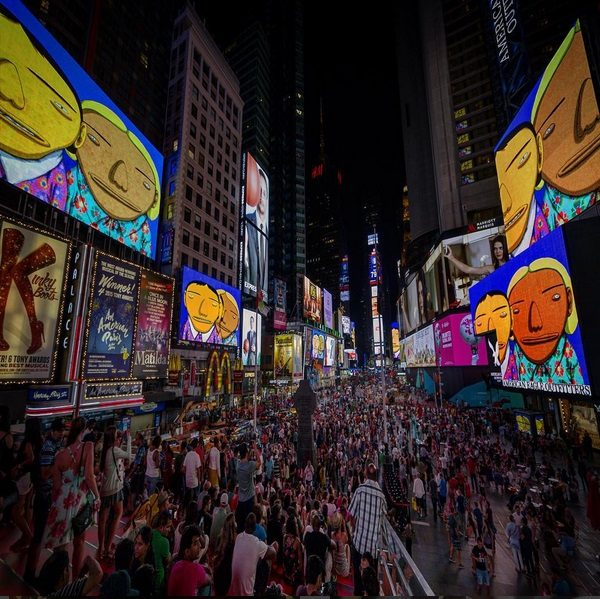 Os Gemeos exposé en plein Times Square