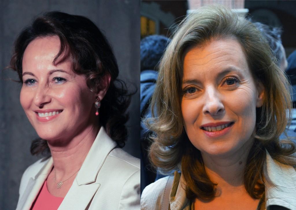 Ségolène Royal félicitée par Valérie Trierweiler