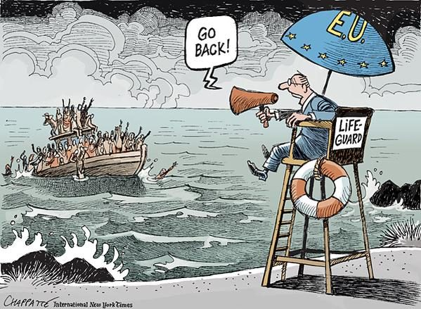 La situation des migrants résumée en dessins