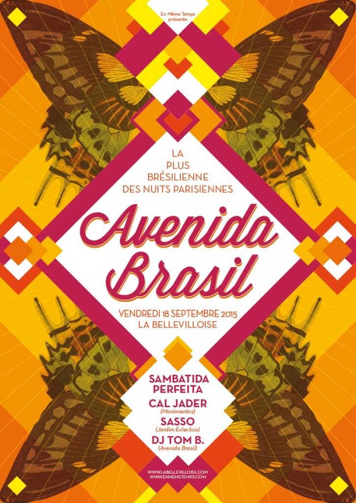 Gagnez 3×2 places pour l'AVENIDA BRASIL #51 à La Bellevilloise le 18 septembre