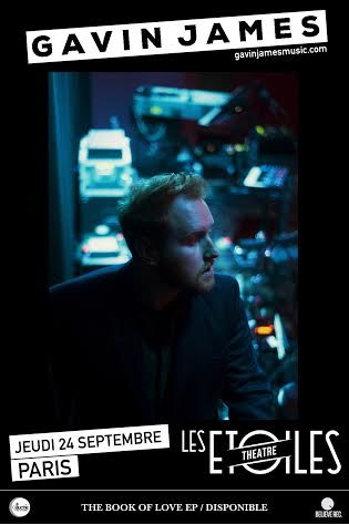Gagnez 4×2 places pour le concert de Gavin James aux Étoiles le 24 septembre