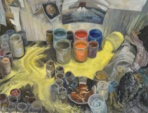Element essentiel - 2015 - Huile sur toile - 190 x 205 cm - © Galerie Maeght Paris