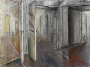 Oasis - 2014 - Patel et fusain sur papier - 57 x 76 cm - © Galerie Maeght Paris