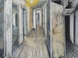 Stigmate, 2014, pastel sur papier, 57 x 75 cm © Galerie Maeght Paris