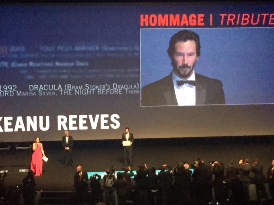 [Deauville 2015] La Cérémonie d'ouverture avec Keanu Reeves : du sable, des planches, une étoile et la neige (04/09/2015)