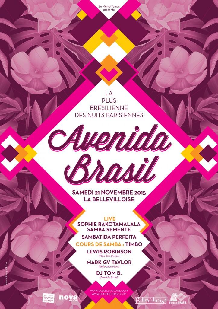 Gagnez 3 x 2 places pour l'Avenida Brasil #52 le 21 novembre