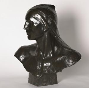 Buste d'un débardeur Constant Meunier (1931-1905) Bronze, 1896 Collection Caroline et Maurice Verbaet © c&mvC