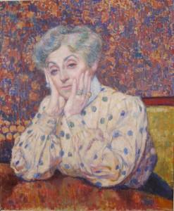 Madame Théo van Rysselberghe Théo van Rysselberghe (1862-1926) Huile sur toile, 1907 Collection particulière, France © DR