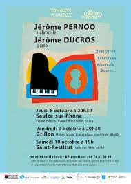 Tonalité Plurielle et les Concerts de Poche : J. Pernoo (violoncelle) Jérôme Ducros (piano)