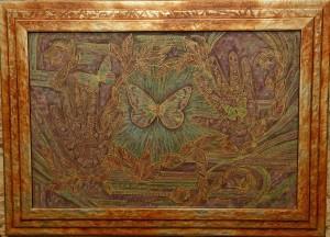 « Eternité », 38x57 cm; 2015.Peinture sur soie. Photo par Christopher Powell