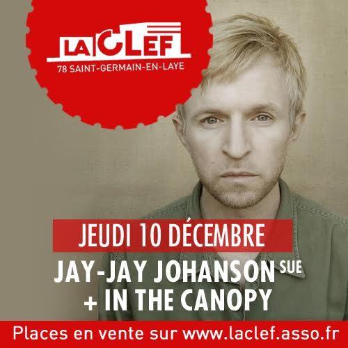 Gagnez 3×2 places pour le concert d'In The Canopy & de Jay-Jay Johanson à La Clef St-Germain le 10 décembre